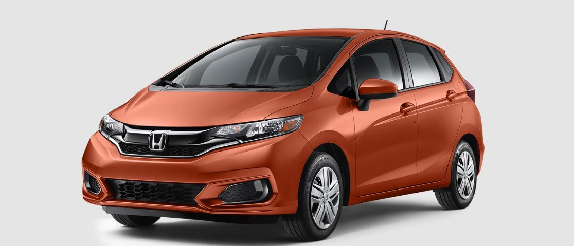 2018 Honda Fit Orange Fury Front Exterior
